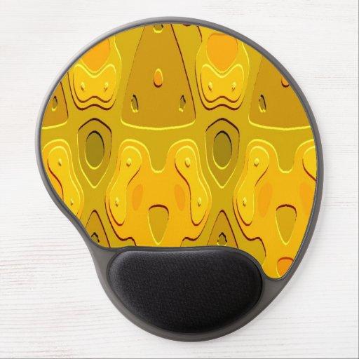Modelo amarillo-naranja alfombrilla de raton con gel