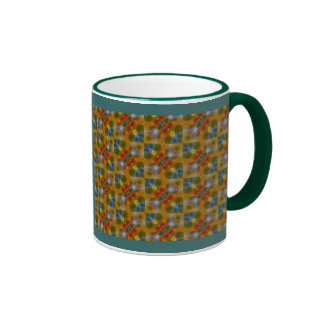 Modelo amarillo-naranja del arte abstracto de las taza a dos colores