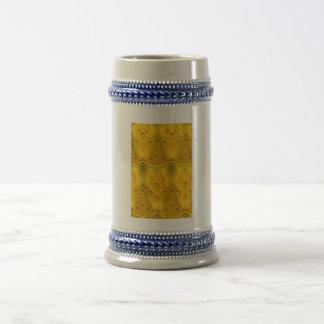 Modelo amarillo-naranja tazas de café