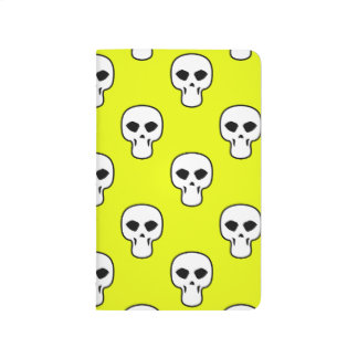 Modelo amarillo negro, blanco, de neón de los crán cuadernos