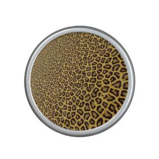Modelo amarillo negro del estampado de animales altavoz