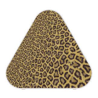 Modelo amarillo negro del estampado de animales altavoz bluetooth