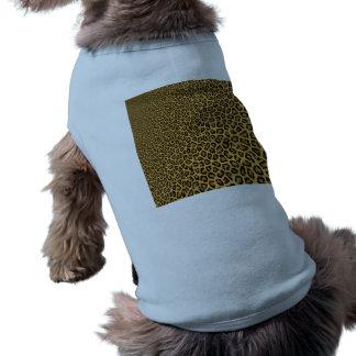 Modelo amarillo negro del estampado de animales playera sin mangas para perro