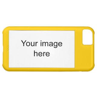 Modelo amarillo plantilla en blanco fácil y rápida funda para iPhone 5C