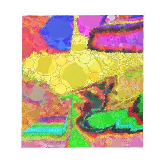 Modelo amarillo psicodélico del extracto del rojo blocs de notas