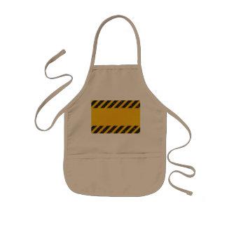 Modelo amarillo rayado del peligro delantal infantil