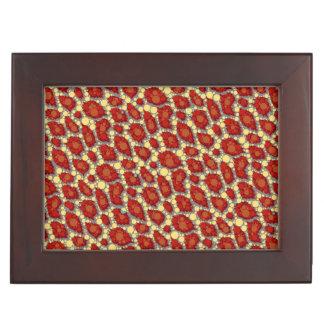 Modelo amarillo rojo del guepardo cajas de recuerdos