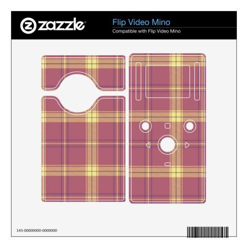 Modelo amarillo rosado de la tela escocesa flip mino skins