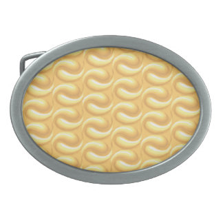 Modelo amarillo solar hebilla cinturon oval