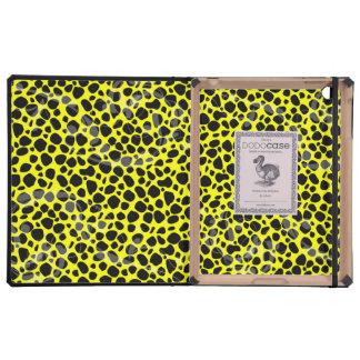 Modelo amarillo soleado del guepardo iPad cárcasa