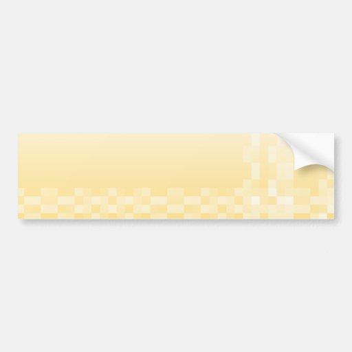 Modelo amarillo soleado, diseño de los cuadrados etiqueta de parachoque