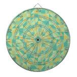 Modelo amarillo verde del triángulo tablero de dardos