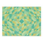 Modelo amarillo verde del triángulo tarjeta postal