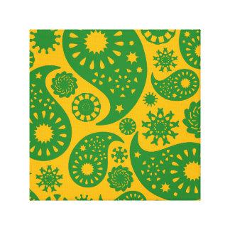 Modelo amarillo verde y ambarino de Paisley Lona Estirada Galerias