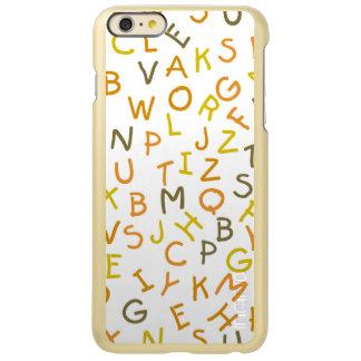 Modelo amarillo y anaranjado del alfabeto