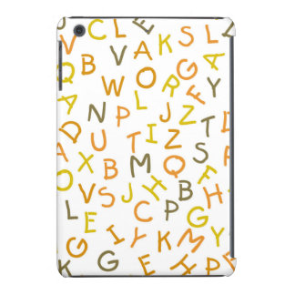 Modelo amarillo y anaranjado del alfabeto carcasa para iPad mini