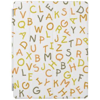 Modelo amarillo y anaranjado del alfabeto cubierta de iPad