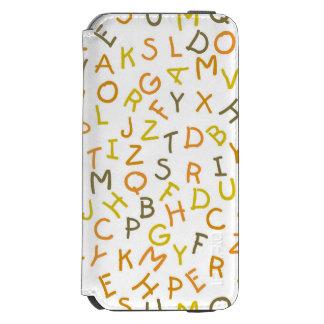 Modelo amarillo y anaranjado del alfabeto funda billetera para iPhone 6 watson
