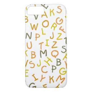 Modelo amarillo y anaranjado del alfabeto funda iPhone 7