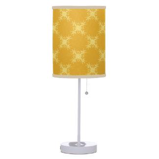 Modelo amarillo y anaranjado del damasco del diama lámpara de mesa