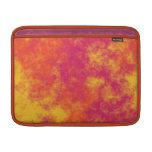 Modelo amarillo y anaranjado rosado enrrollado de  funda para macbook air