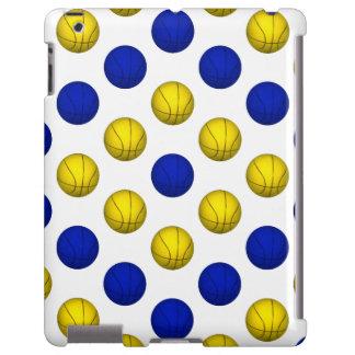 Modelo amarillo y azul del baloncesto funda para iPad