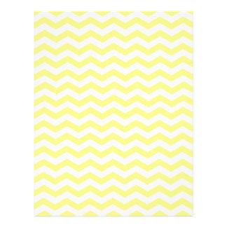 Modelo amarillo y blanco de Chevron del zigzag Plantillas De Membrete