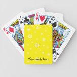 Modelo amarillo y blanco de los copos de nieve baraja cartas de poker