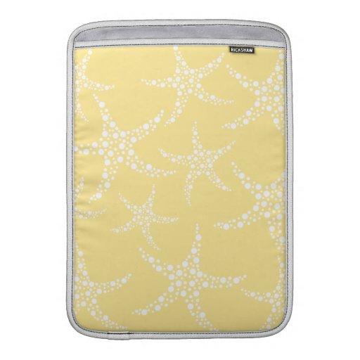 Modelo amarillo y blanco de Sandy de las estrellas Fundas Para Macbook Air