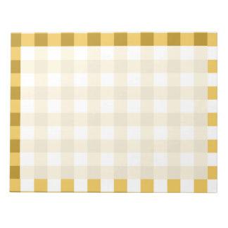 Modelo amarillo y blanco del control de la guinga blocs