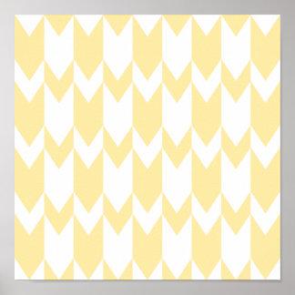 Modelo amarillo y blanco en colores pastel de Chev Póster