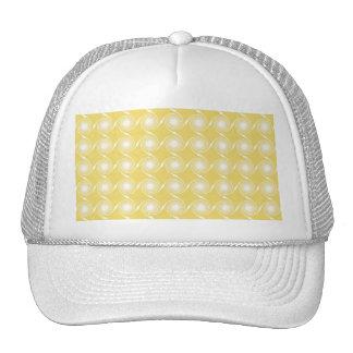 Modelo amarillo y blanco soleado del remolino gorra