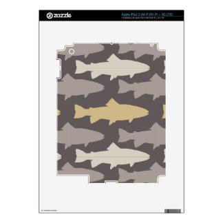 Modelo amarillo y gris de los pescados de la iPad 3 skins