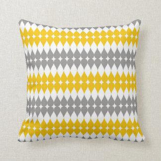 Modelo amarillo y gris del descenso del rasgón almohadas