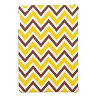 Modelo amarillo y marrón del galón del zigzag de m