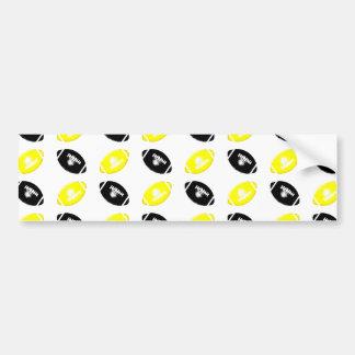 Modelo amarillo y negro brillante del fútbol pegatina para auto