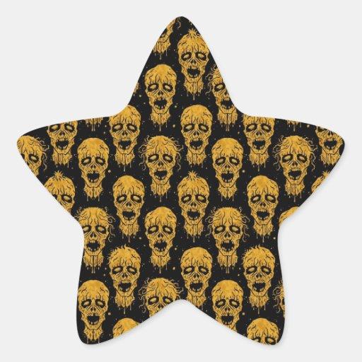 Modelo amarillo y negro de la apocalipsis del calcomanías forma de estrellas personalizadas