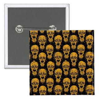 Modelo amarillo y negro de la apocalipsis del zomb pins