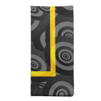 Modelo amarillo y negro del óvalo del círculo servilleta de papel