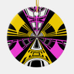 Modelo amarillo y rosado moderno del círculo adornos