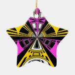Modelo amarillo y rosado moderno del círculo ornamentos para reyes magos