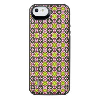 Modelo amarillo y verde rosado del batik funda power gallery™ para iPhone 5 de uncommon