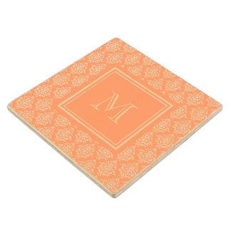 Modelo anaranjado 1 del damasco con el monograma