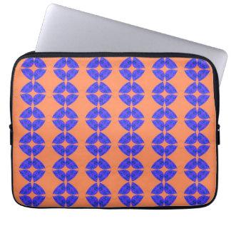 modelo anaranjado azul funda portátil