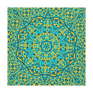 Modelo anaranjado azul geométrico moderno del lienzo envuelto para galerías