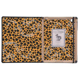 Modelo anaranjado brillante del guepardo iPad cárcasa