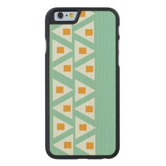 modelo anaranjado coloreado suavidad del triángulo funda de iPhone 6 carved® slim de arce
