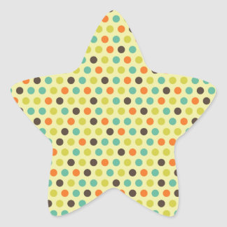 Modelo anaranjado colorido de la caída de los pegatina en forma de estrella
