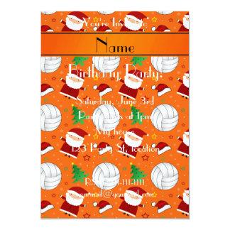 """Modelo anaranjado conocido de encargo del navidad invitación 5"""" x 7"""""""