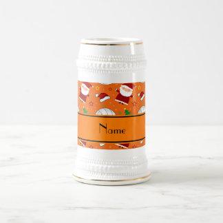Modelo anaranjado conocido de encargo del navidad taza de café